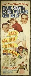 TAKE ME OUT TO THE BALL GAME, 1949 FRANK SINATRA ORIGINAL INSERT