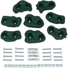 SWING SET STUFF SMALL TEXTURED ROCK HOLDS SET OF 8 MOUNTING HARDWARE GREEN 0014