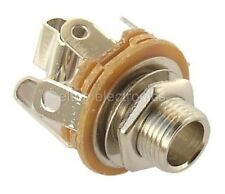 "1x 1/4 Inch Stereo Jack Socket Panel Mount Connector 0.25"" JS23"