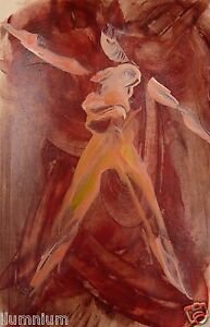 Acrylic Art Painting on Paper - Ballet Dancer