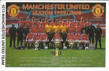 1999/2000 TEAM MANCHESTER UNITED Original Starline Poster MINI Promo Piece 3x5