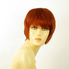 perruque femme 100% cheveux naturel courte cuivré intense ref DOLLY 130