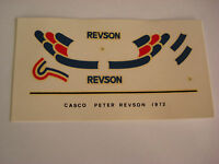 DECALS KIT 1/12 HELMET PETER REVSON  UOP SHADOW F1