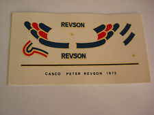 DECALS KIT 1/12 HELMET PETER REVSON  UOP SHADOW F1 FDS AUTOMODELLI