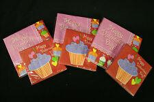 Party Creations Cupcake Treats Happy Valentines Napkin 6 packs