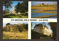 SAINT-MICHEL EN L'HERM (85) EGLISE & ABBAYE , LA DIVE