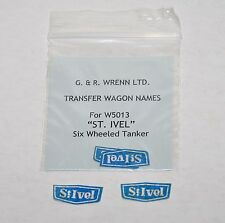 One pair of WRENN self adhesive names St. Ivel  wagon W5013