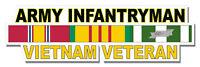 "Army Infantryman Vietnam Veteran 5.5"" Window Sticker Decal"