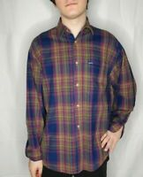 Guess Georges Marciano Vintage USA Multi-Color Plaid Button-up Shirt Mens Small