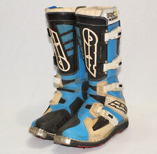 AXO RC2 Kevlar 925 Blue Black White Motorcycle Motocross Boots Size AU 8 / US 9