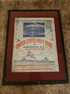 United States Navy Band of Washington DC Souvenir Program 1937 Knox  Tennessee