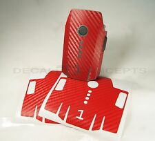 DJI Mavic RED Carbon Fiber Battery 1-3 Skin Stickers Graphic Wrap Decal Pro