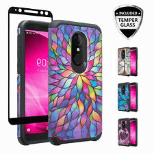 T-Mobile Revvl 2 Case, Alcatel 3/REVVL 2 Shock Proof Case w/Tempered Glass