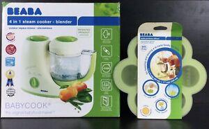 Beaba 4 in 1 Steam Cooker Blender Baby Food Maker 2½ Cup- New Open Box, Bonus