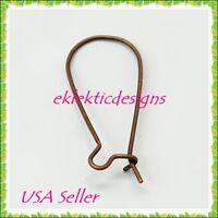 20pcs BRASS Gunmetal Black French Hook /& Coil Earrings Ear Wire 10pr Findings