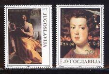 JUGOSLAVIA 1987 ARTE ARTISTI SERIE COMPLETA 2 VALORI MNH ** 1154
