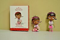 "Hallmark THE DOC IS IN Disney Doc McStuffins Christmas Ornament  2"" 3"" Lot of 2"