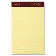 Ampad Gold Fibre Writing Pads Jr. Legal Rule 5 x 8 Canary 50 Sheets 4/Pack 20029