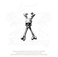 Longbone Earring graveyard pirate skull crossed thigh bones By Alchemy Gothic
