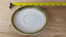 Imperial Crown Austria China Saucer Green and Gold