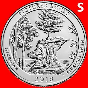 2018-S PICTURED ROCKS NATIONAL LAKESHORE (MI) QUARTER UNCIRCULATED FROM ROLLS