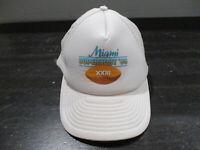 VINTAGE San Francisco 49ers Hat Cap White 1989 Super Bowl Football Miami 80s *