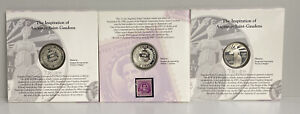 Lot Of 3 1996 S National Community Service Proof Commemorative Dollar US Coin