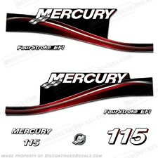 2005 Red Mercury 115hp FourStroke EFI Outboard Engine Decals Reproduction Kit