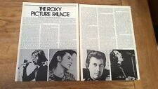 ROXY MUSIC 'picture palace' 1970s 2 page UK Photo /ARTICLE/clipping