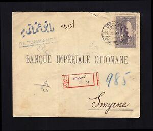 TURKEY: 1921 Registered Cover to Smyrne