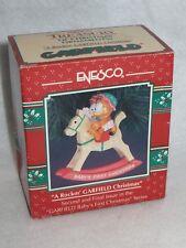 "VINTAGE ""ROCKIN' GARFIELD CHRISTMAS"" ENESCO GARFIELD ORNAMENT - 1992 - MINT"