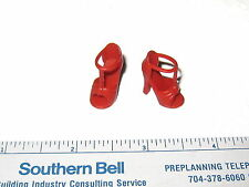 #525 NEW BARBIE SHOES: MODEL MUSE RED  HIGH HEEL SANDALS