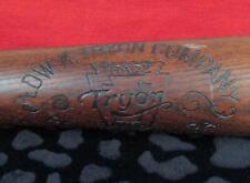 """Vintage 1920s Edw.K.Tryon Co.Wood Baseball Bat American League 34"""" Model No.64"""