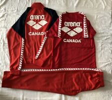 Descente Arena Canada National Team Swimming Track Suit Jacket Pants Tee Set B