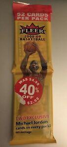 2008-09 FLEER NBA BASKETBALL Sealed Retail Rack Pack DERRICK ROSE RC ON BACK