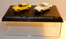 COFFRET ATLAS DUO 2 METAL UH MATRA SIMCA BAGHEERA 1975 + COURREGES HO 1/87