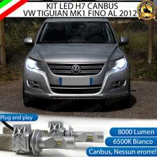 KIT LED H7 VW TIGUAN 5N CANBUS 8000 LUMEN 6500K BIANCO ANABBAGLIANTI