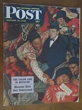 SATURDAY EVENING POST Jan 24 1948 NORMAN ROCKWELL COVER Skiiers on Train