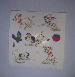 🦁💜Sandylion 1 Abriss Dalmatiner Fuzzy Stoff Scrapbooking Sticker 90er💜🦁