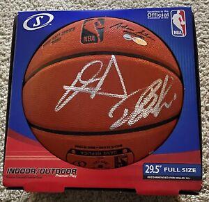 Devin Booker & Deandre Ayton Signed Phoenix Suns Autographed Basketball STEINER