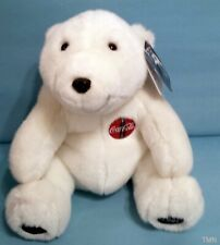 "Coca Cola Bear Coke Plush Stuffed Animal Toy 11"" Vintage 1993 w /tags"