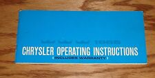 Original 1965 Chrysler Owners Operators Manual 65 Newport New Yorker
