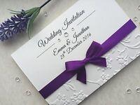 Wedding or Evening Invitations - Handmade - Personalised - Embossed - S7