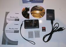 Boxed Canon PowerShot S100 12.1MP Black with accessories