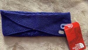 The North Face Knit Fleece Simply Best Headband Earband Bright Navy winter snow
