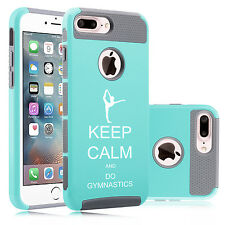 For iPhone 6 6s 7 Plus Dual Shockproof Hard Case Cover Keep Calm Do Gymnastics