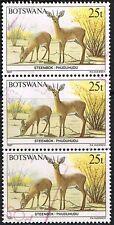 Botswana 1987. Animals. Steenbok. 25t. Strip of 3. Used.