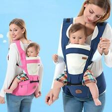 Newborn Infant Baby Carrier + Hip Seat Breathable Ergonomic Wrap Sling Backpack