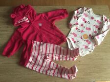 NWT Gymboree Pink Penguin Baby Girls 6-12 M 3 Piece Outfit Set Holiday Lot