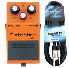 BOSS ds-1 DISTORTION PEDALE + Cavo chitarra 3m